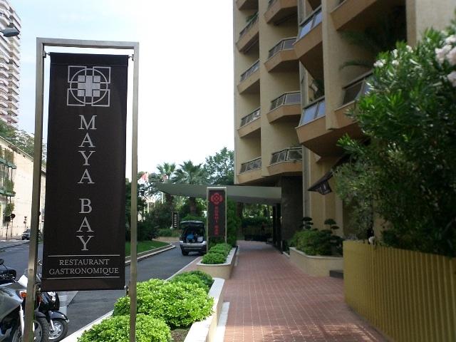 הכניסה למסעדת MAYA BAY במונקו